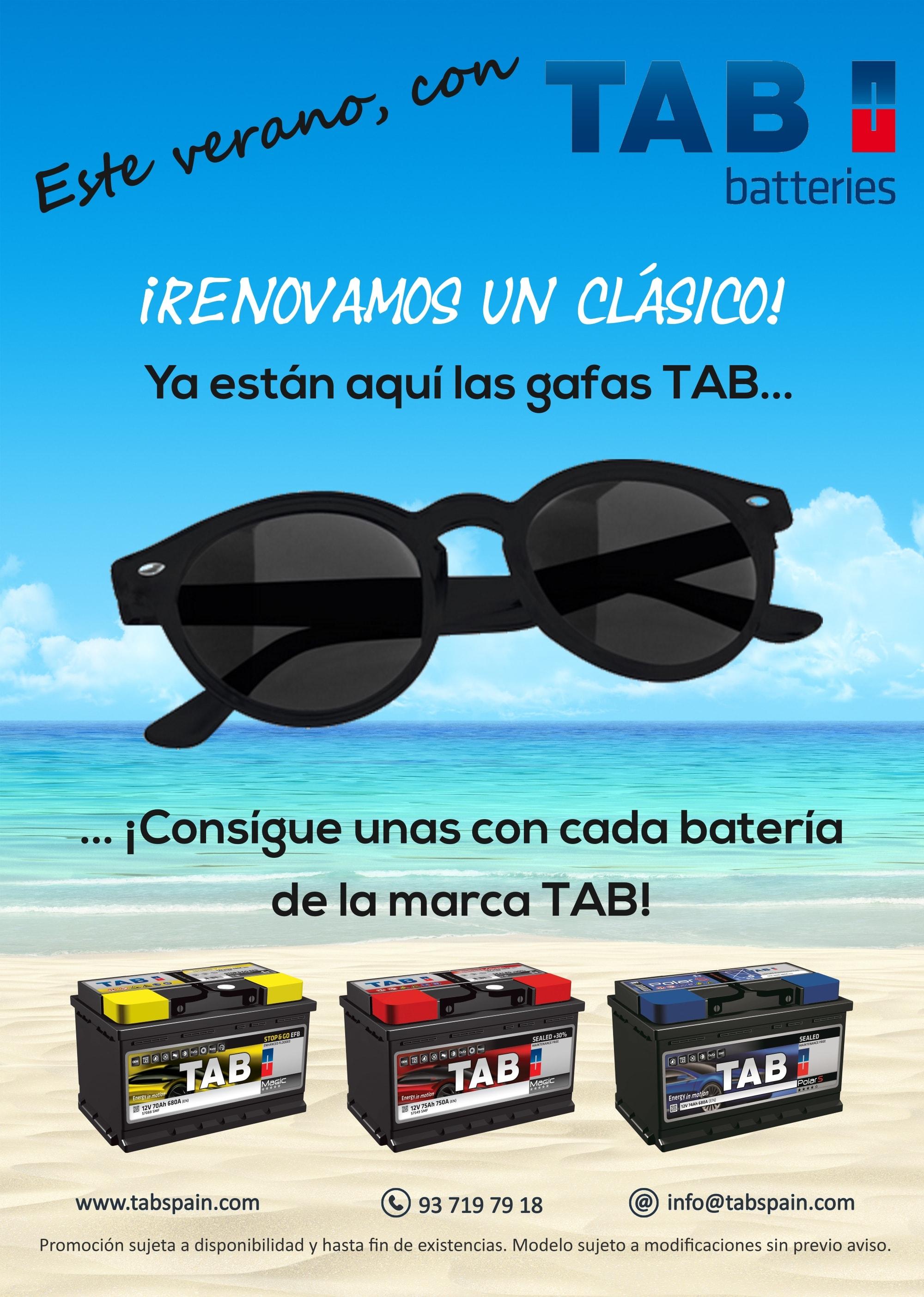 859ae37628 La compañía obsequiará a sus clientes con unas gafas de sol por la  adquisición de una batería TAB