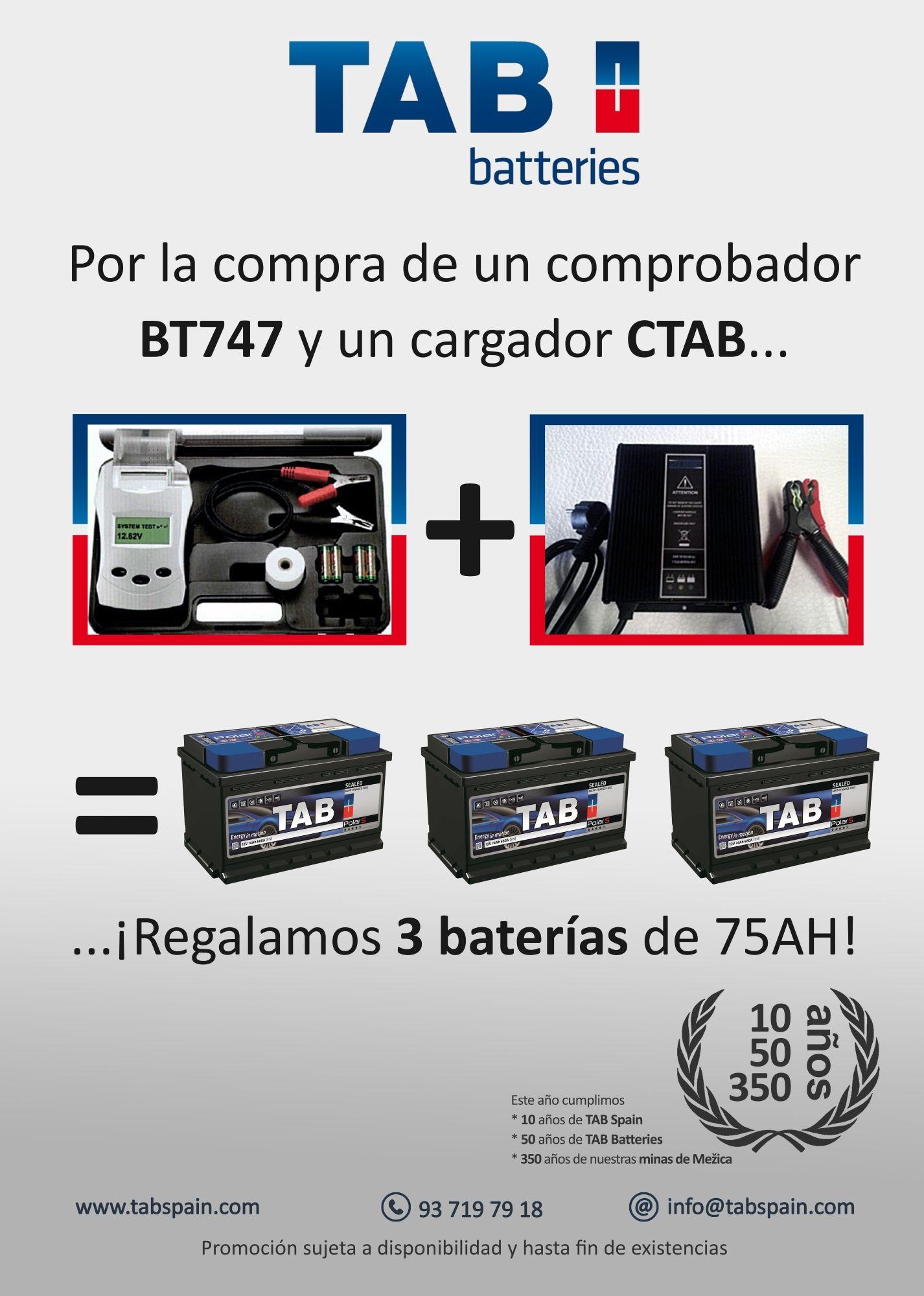 6a4934a381 TAB regala 3 baterías en su nueva campaña - TAB Spain