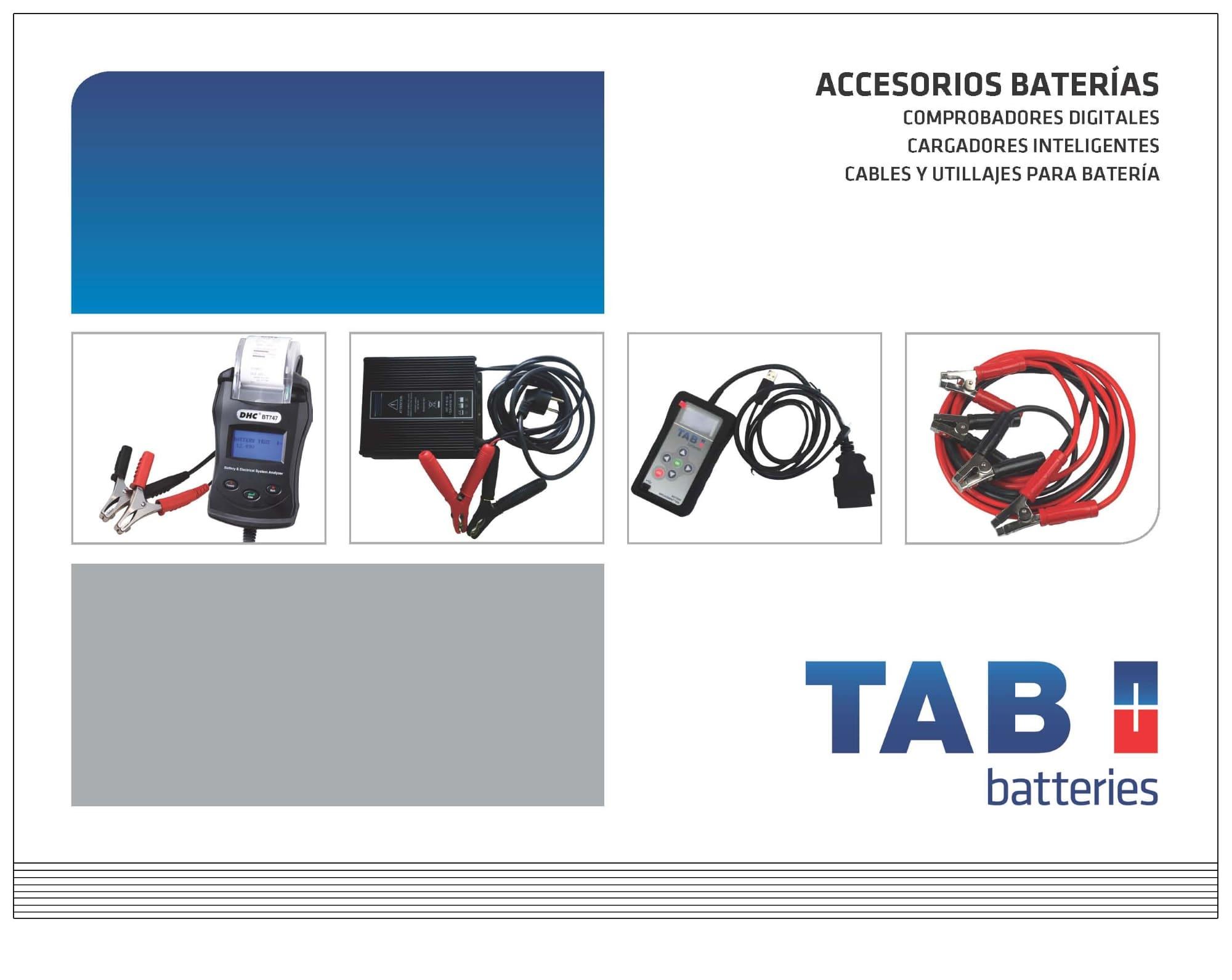 Tab batteries presenta su nuevo cat logo de accesorios for Catalogo de accesorios