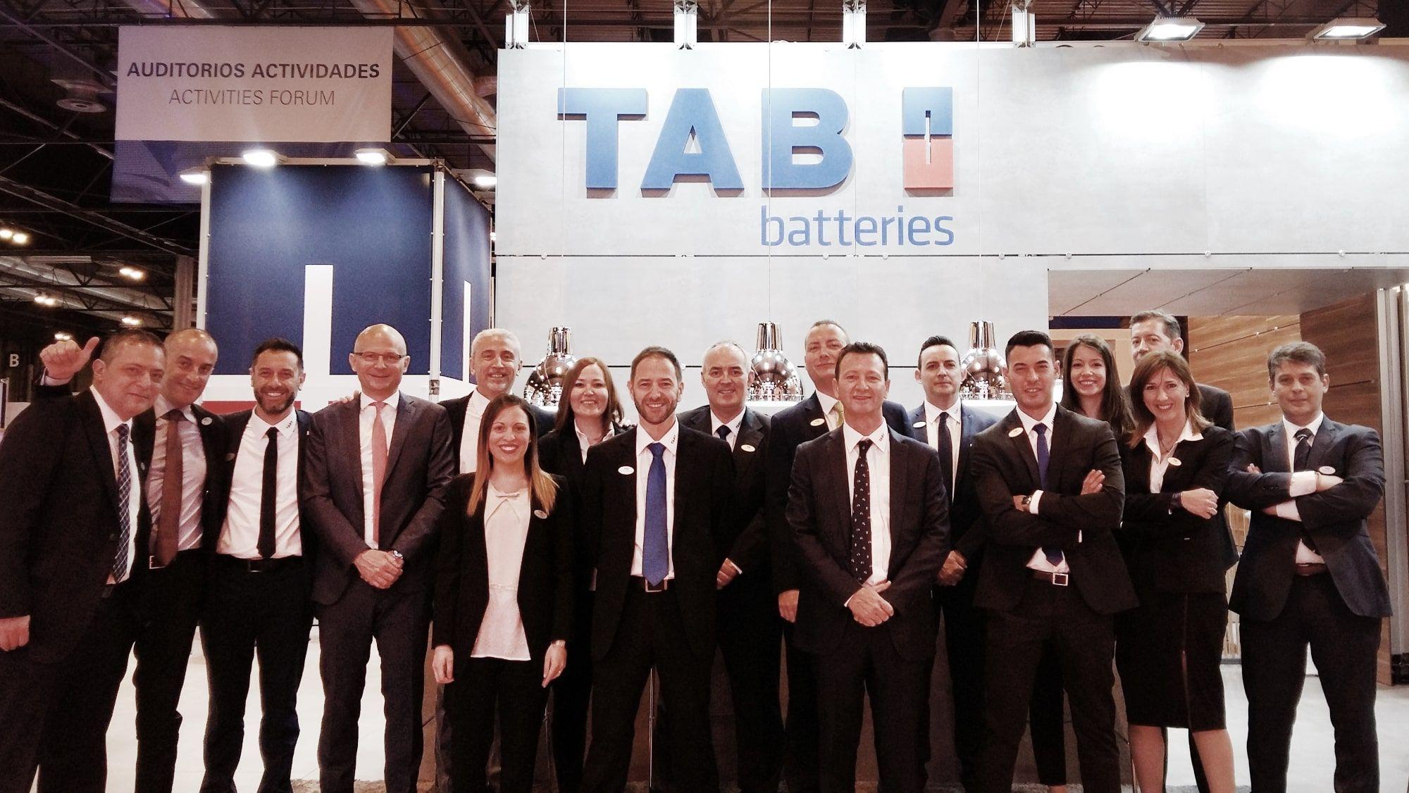 El equipo de TAB en Motortec 2017.